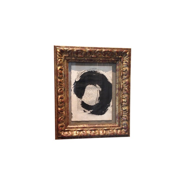 """John Mayberry Painting in Custom Frame - """"Circle"""" - Image 1 of 5"""