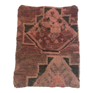 Vintage 100% Moroccan Rug Wool Pillow
