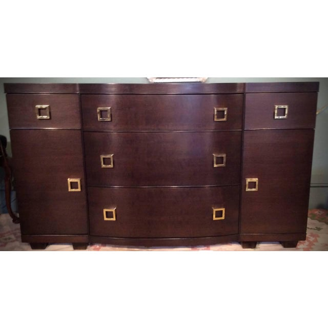 Image of Mid-Century Bow Fronted Chest of Drawers