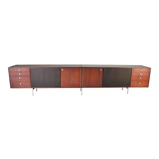 Mid-Century Custom Teak Audiophile Record-Stereo Cabinet After George Nelson