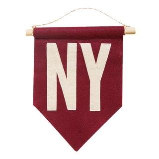 Crimson NY Felt Flag