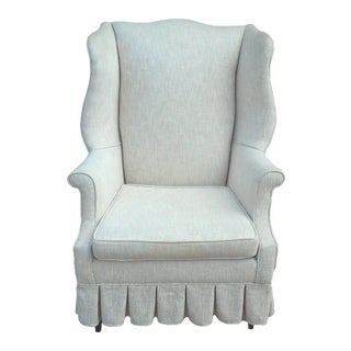 Off-White Wing Back Chair
