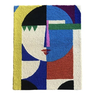 Limited Edition Female Abstract Color Block Rug Wall Hanging Textile