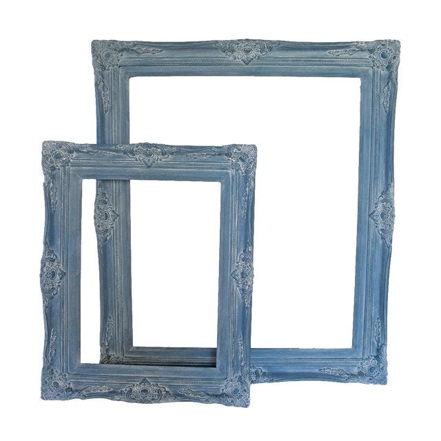 Blue Vintage Picture Frames - A Pair - Image 1 of 9
