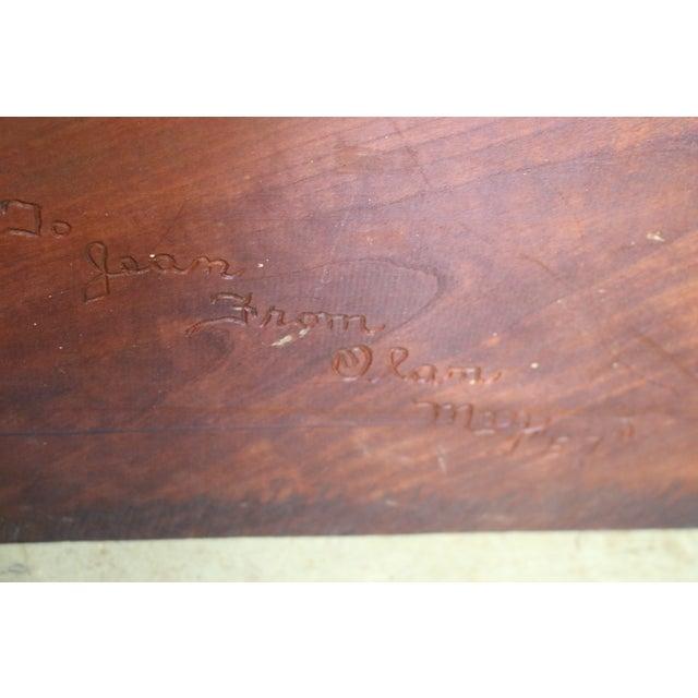 Inscribed Handmade Live Edge Coffee Table - Image 8 of 8