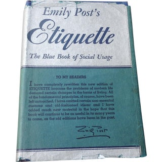 Etiquette Blue Book of Social Usage by Emily Post