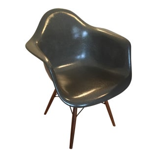 Eames Gray Fiberglass Armchair