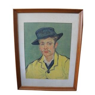 Vintage Van Gogh Young Man Armand Roulin Print Portrait