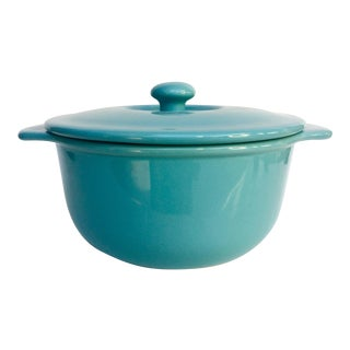 Turquoise Lidded Casserole Dish
