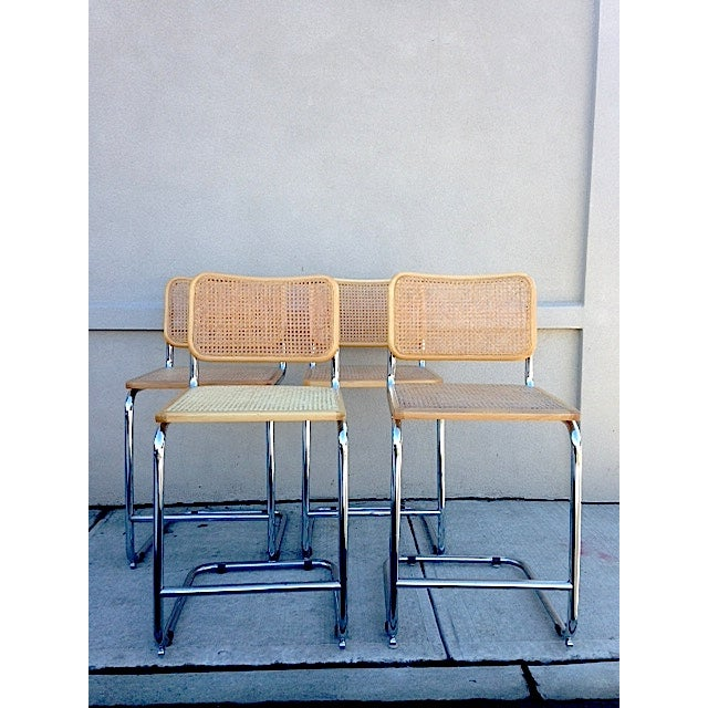 Image of Marcel Breuer Style Bar Stools - Set of 4