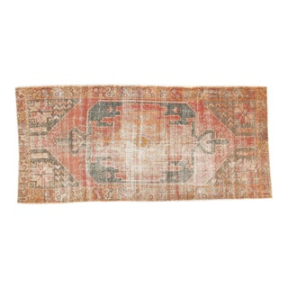 Vintage Distressed Oushak Rug Runner - 4' x 8'8""