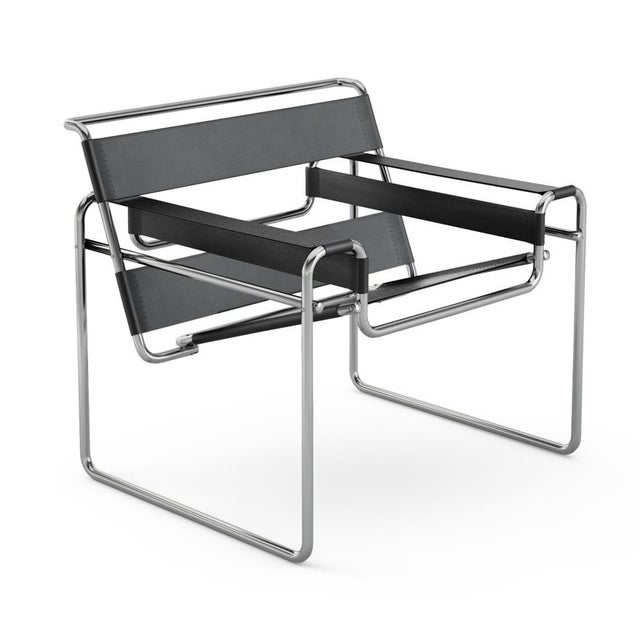 Image of Bauhaus Wassily Chair by Marcel Breuer for Knoll
