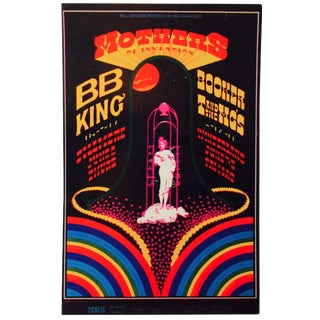 1960s Psychedelic Fillmore East Postcard
