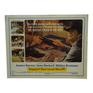 "Vintage Movie Poster ""Support Your Local Sheriff"" by James Garner 1969"