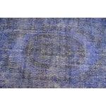 Image of Dark Blue Turkish Over-Dyed Rug - 6′1″ × 10′4″