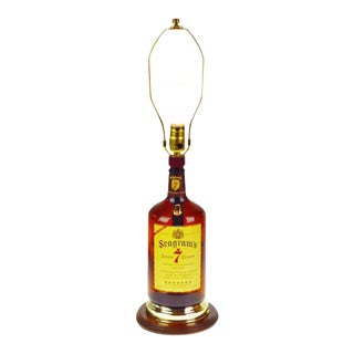Vintage Seagram's 7 Whiskey Bottle Table Lamp