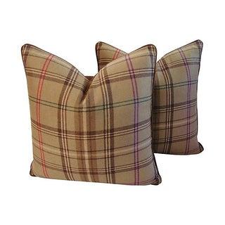 Ralph Lauren Wightwick Plaid Pillows - a Pair