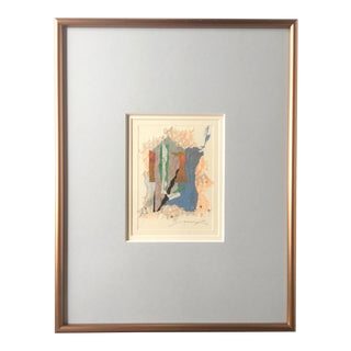 Signed Copper Framed Abstract Collage