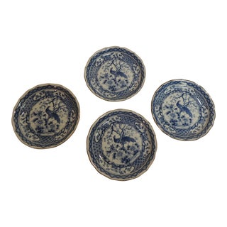 Vintage Japanese Peacock Decorative Plates - Set of 4