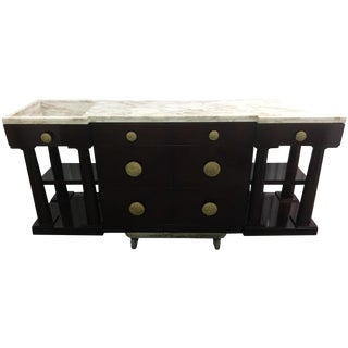 Marble-Top Column Buffet with Basin