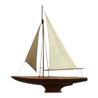 Mid-Century Nautical Model Sailboat