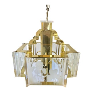 Fredrick Ramond Hollywood Regency Chandelier