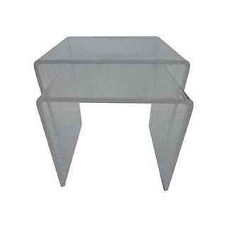 Nesting Lucite Side Tables - Pair
