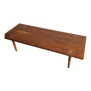 Mid-Century Modern Walnut Coffee Table by American Of Martinsville