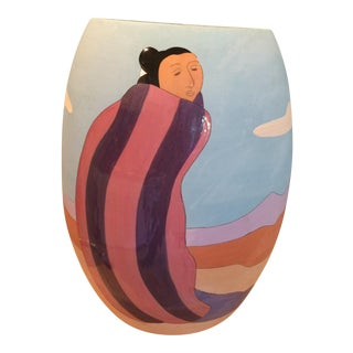 RC Gorman Ceramic Vase