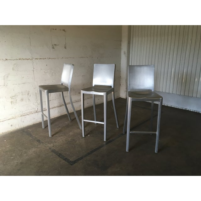 Philippe Starck for Emeco Hudson Bar Stools - Set of 3 - Image 2 of 10