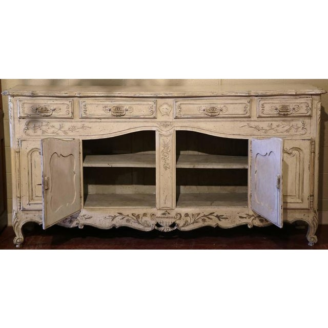 Early 20th Century French Louis XV Carved Painted Buffet - Image 3 of 9