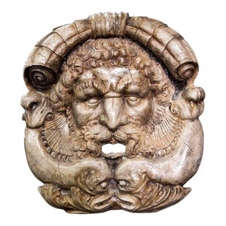 Venetian grotesque mascaron sculpture, late 19th-Early 20th Century