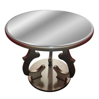 Gold Beveled Mirror Side Table