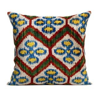 Nomlaki Tribal Silk Velvet Pillows - A Pair
