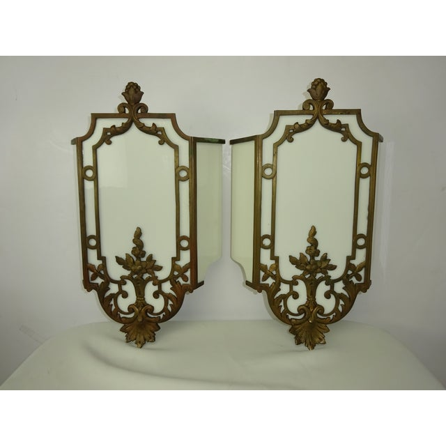 Sterling Bronze Co. Antique Deco Sconces - A Pair - Image 2 of 9