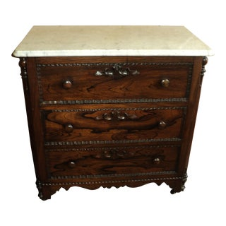 Antique Victorian Marble Washstand