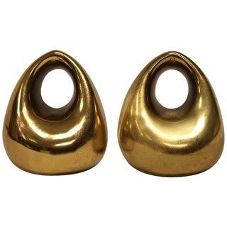 Mid-Century Brass Bookends by Ben Seibel