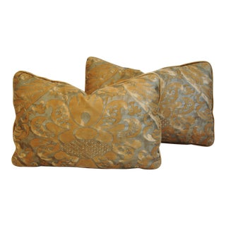 Fortuny Covered Feather & Down Pillows - A Pair