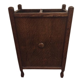 Edwardian Wood Umbrella Stand