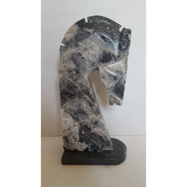 Charcoal Marble Horsehead Bookend - Image 2 of 4