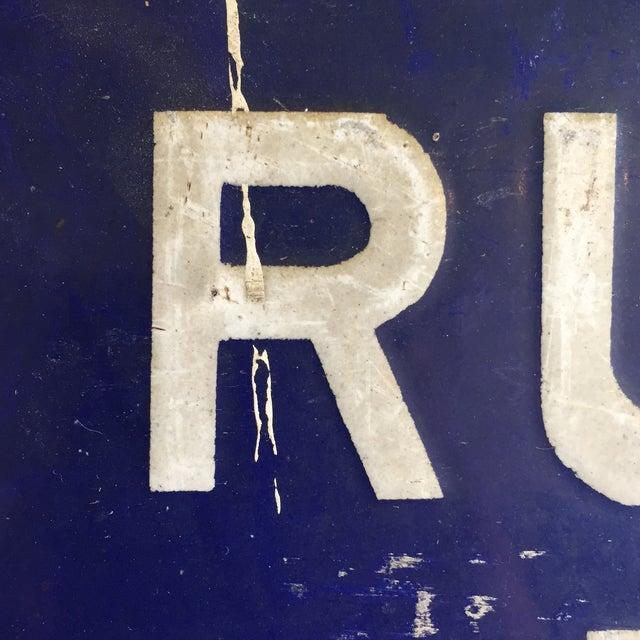 Rue Du Pont De L'Avenue Porcelain Street Sign - Image 6 of 8