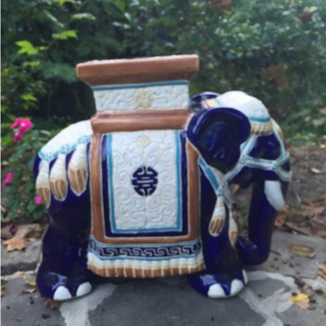 Vintage Petite Chinoiserie Elephant Stool - Image 3 of 8