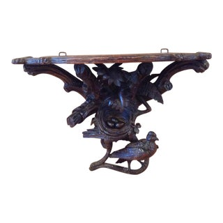 19th C Black Forest Wall Bracket Bird
