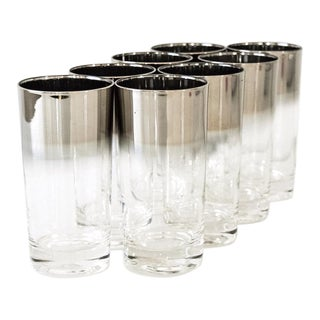 Mid Century Dorothy Thorpe Style Highball or Drinking Glasses - Set of 8