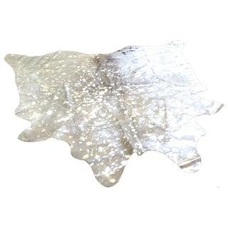 Hide Rug - Devore Metallic White/Silver