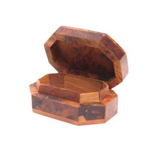 Handmade Small Thuya Wood Rectangular Storage Box