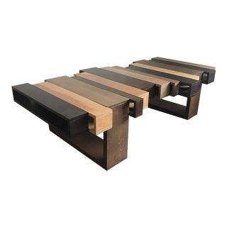 Oversized Modern Modular Wood Coffee Table