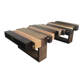 Oversized Modern Modular Wood Coffee Table