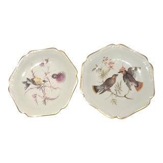 Mitterteich Antique Bird Plates - A Pair