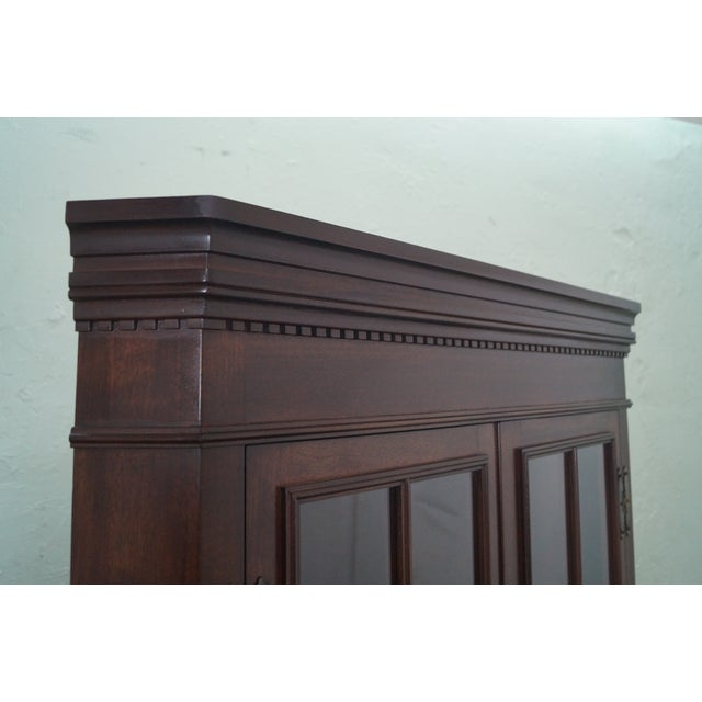 Image of Craftique Solid Mahogany Chippendale Cabinet